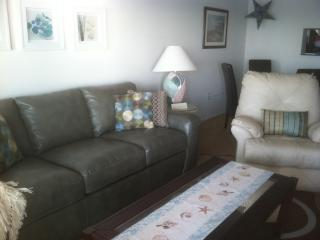 Comfy New Living Room with Ocean View