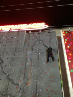 Two rock walls to climb and a zip line