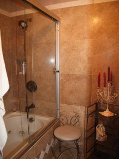 Master Bathing Room, with Jacuzzi Tub and Shower