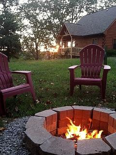 Sunset and s\'mores by the camp fire!