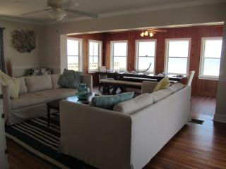 Main house living room overlooking the beach