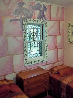 Atmospheric castle bedroom