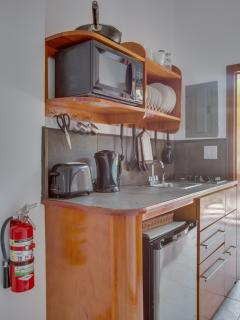 Kitchenette in middle beach level suite