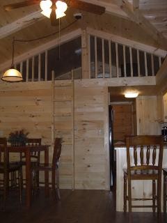 Upon request and approval, 4' high sleeping loft