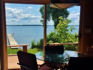 Rustically Charming 2BR Federal Dam House on Leech Lake w/Private Dock & Modern Conveniences - Breathtaking Westerly Lake Views!