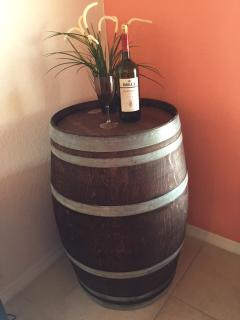 Actual wine barrel