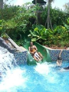 Fun in the Water Slide and Fall