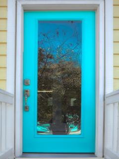 Front Door- Welcome to Seas The Moment! Love, Love, Love This Color!!!
