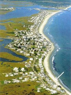 Sandy beachfront (location @ arrow)