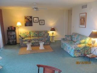 Comfortable Living Area with Queen Sleeper Sofa