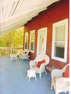 Old fashioned front porch