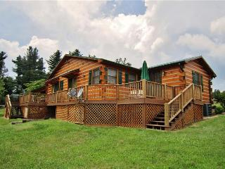 Classic 3BR Glade Valley Log Home w/Wifi, Deck, Huge Yard & Beautiful Views of Rolling Hills - Near Blue Ridge Pkwy + Easy Access to Hiking, Golf, Wineries, Restaurants & Much More!