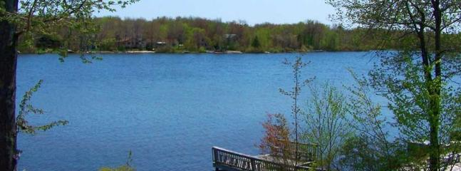 picturesque view of the Lake Carabeth from the home
