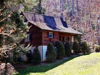 'Creek Melody' Wonderfully Rustic 2BR + Loft Valle Crucis Cabin w/Private Hot Tub, Wifi & Beautiful Views - Near Mast General Store, Boone, Sugar Mountain & More!, Vilas