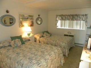 Bedroom w/TV and  1/2 Bath
