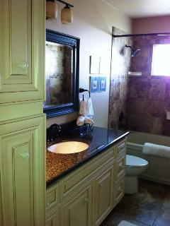 Master bath; jacuzzi tub; all tile/granite