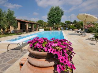 Detached apt, tuscany hills, garden, swimmingpool, Chianni