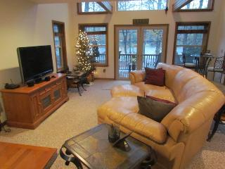 The comfortable great room with HD TV & stereo.