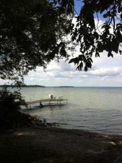 Dock off lakefront