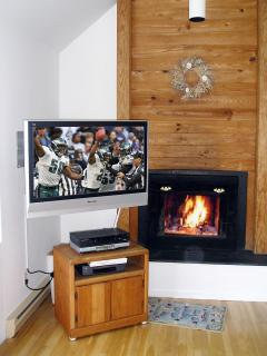 Cozy Fireplace at Chincoteague's Spinnaker  Rental
