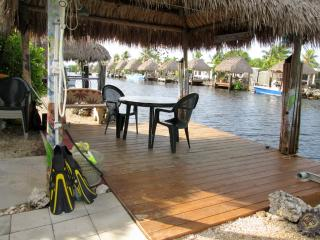 Our Tiki/ dock with outdoor shower.