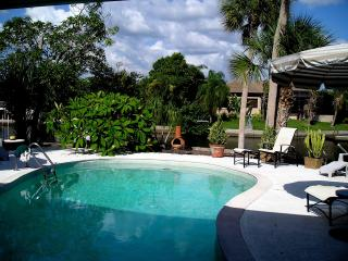 Siesta Key house with heated pool and on canal, Sarasota