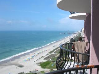 Balcony view of the southern coast from oceanfront 1404 Palms resort