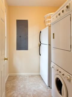 Laundry Room With Washer-Dryer And 2nd Refrigerator