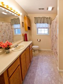Full Bath Downstairs With Tub-Shower And Linen Closet