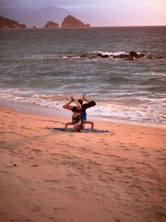 Yoga on the beach? YES PLEASE