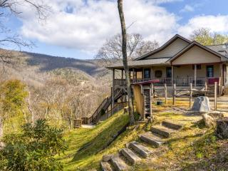 Majestic 3BR Maggie Valley Home on 1.5 Private Acres w/2 Fireplaces, Screened Porch & Stunning Views - Near Outdoor Activities, Restaurants & More!