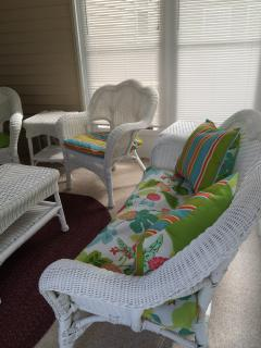 Lovely Three Season Porch with all new cushions