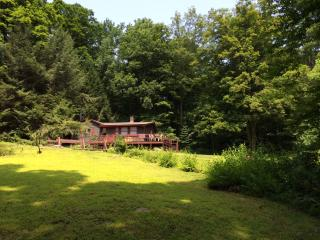 Cozy Affordable Cottage 4 Wooded Acres with Brook, West Cornwall
