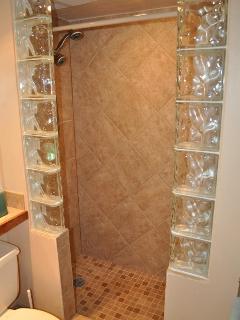 Lovely tile shower area
