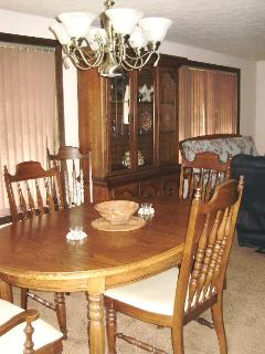 DINING TABLE, NOW HAS HARDWOOD FLOORS