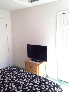 Double Bedroom showing Flatscreen TV on Chest