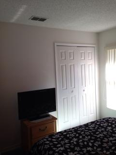 Double Bedroom TV on Chest & adjacent Closed Closet