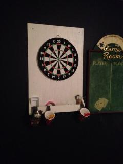 Games Room Darts Board & Score Board