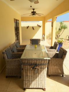 patio with outside dining area