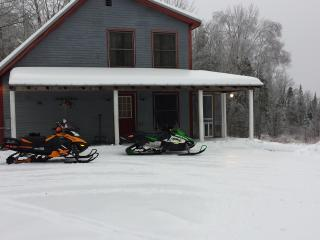 Snowmobile,hunting,fishing,sking,relaxing home