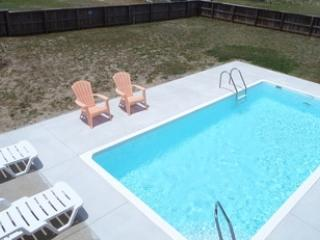 Private 10x20 pool, hot tub, and large fenced in yard.