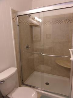 Private Master Bathroom, beautiful tiled shower