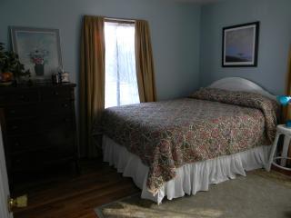 Downstairs bedroom queen bed