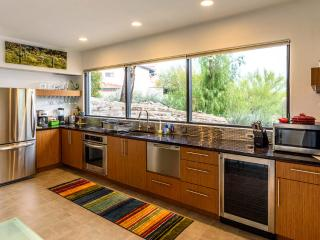 Gourmet kitchen with views of the Catalina Mountains