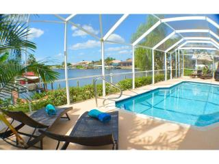 Villa Stardusk, modern home on intersecting canals, Cape Coral