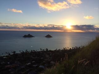 Sunrise from Pill Box Trail high above home