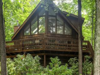Serene 3BR + Loft Lake Ariel Home w/Stunning Views, Kayaks, Wraparound Deck