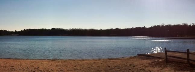 Small public beach - great swimming, fishing, canoeing