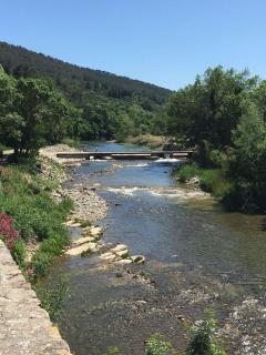 Lagrasse river, a few minutes walk away.