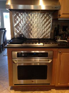5 burner gas range and convection oven